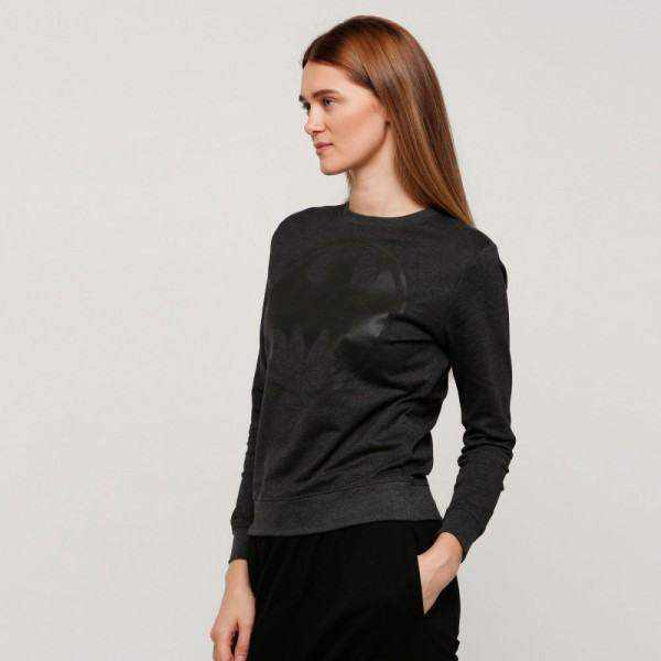 Splash Character SweatShirt , for Women , Black