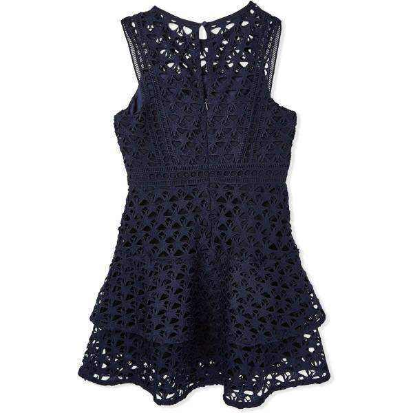 Bardot A Line Dress For Girls - Navy